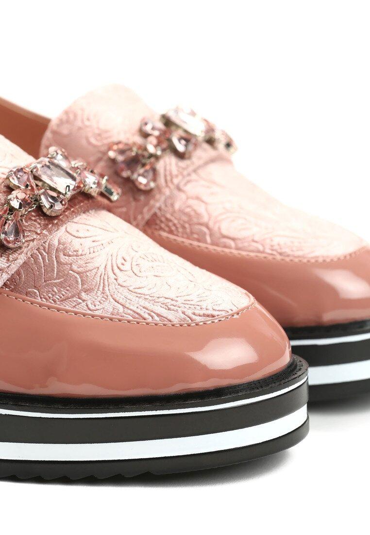 Różowe Mokasyny Radiant Footcloth