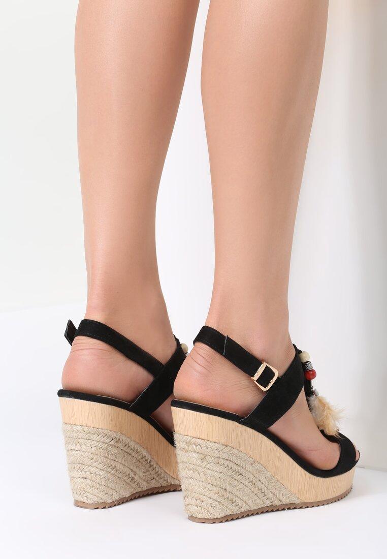 Czarne Sandały Cleft