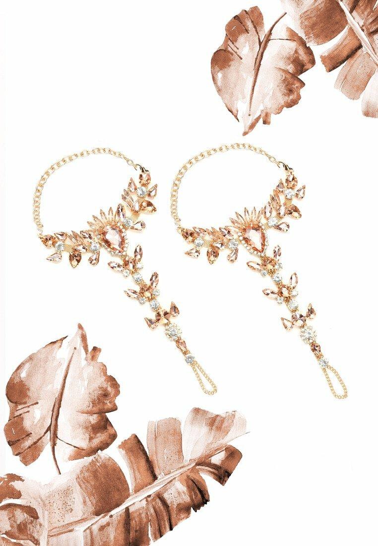 Złota Biżuteria na Stopy Daimonds
