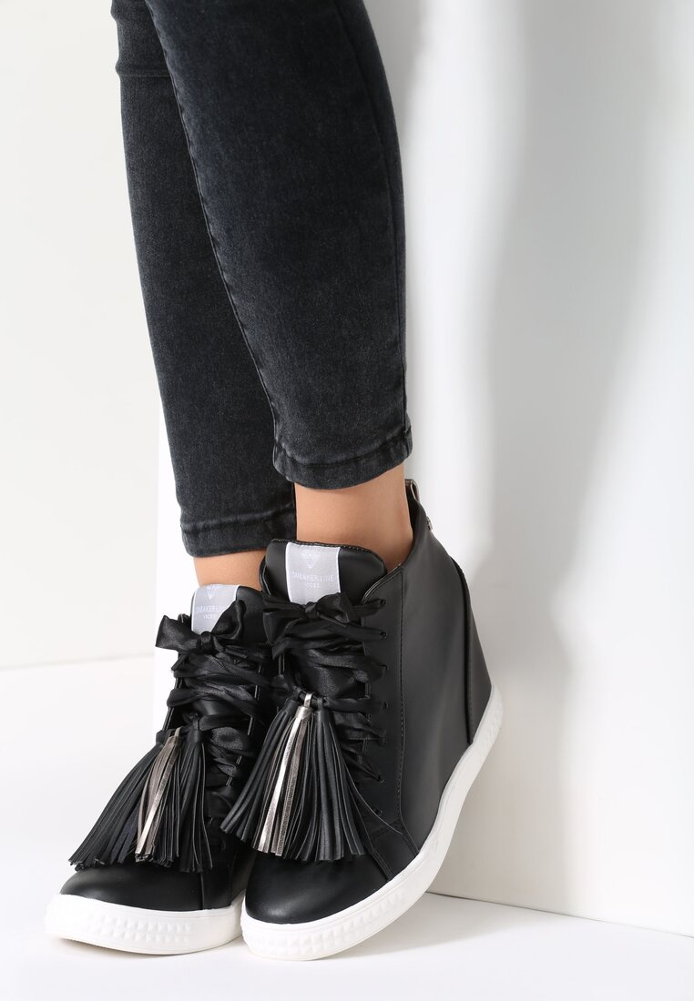 Czarne Sneakersy Glad Moon