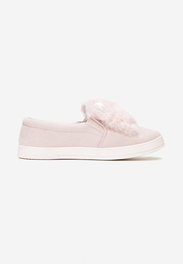Jasnoróżowe Slip On Plushy