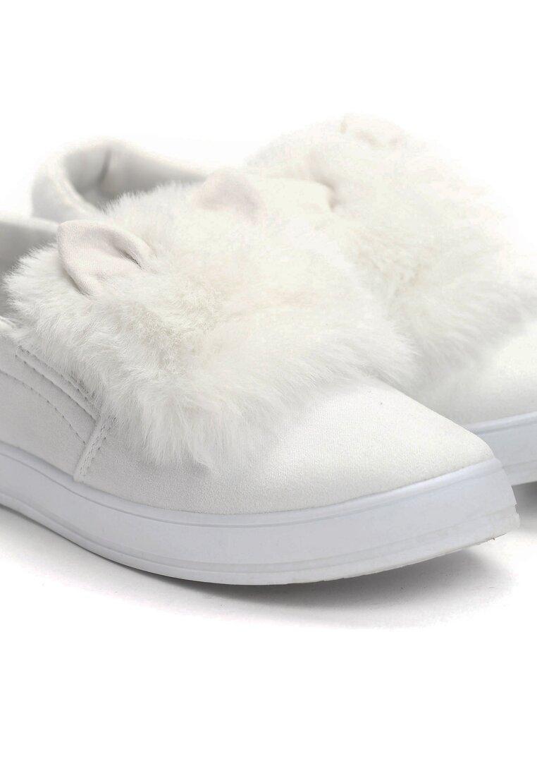 Białe Slip On Plushy
