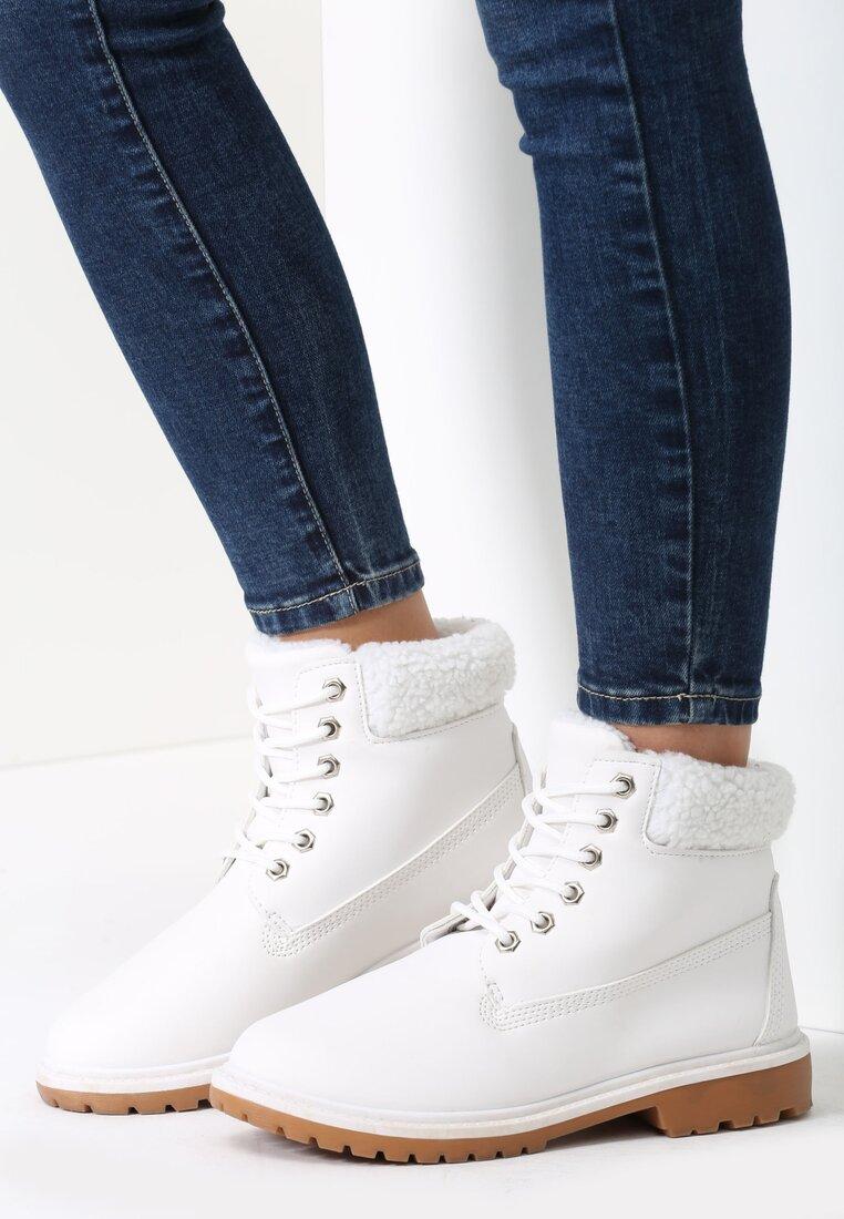 Białe Traperki Twist