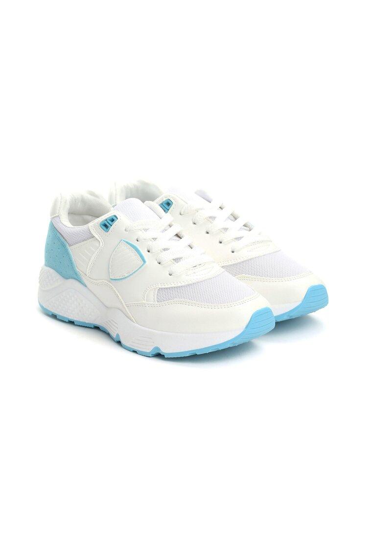 Biało-Niebieskie Buty Sportowe Beauteous Gymnast
