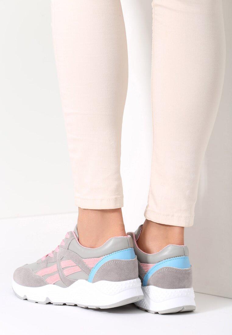 Szare Buty Sportowe Mini Firmament