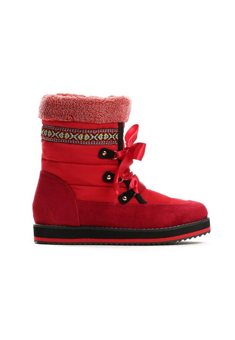 Czerwone Śniegowce Shake It Baby