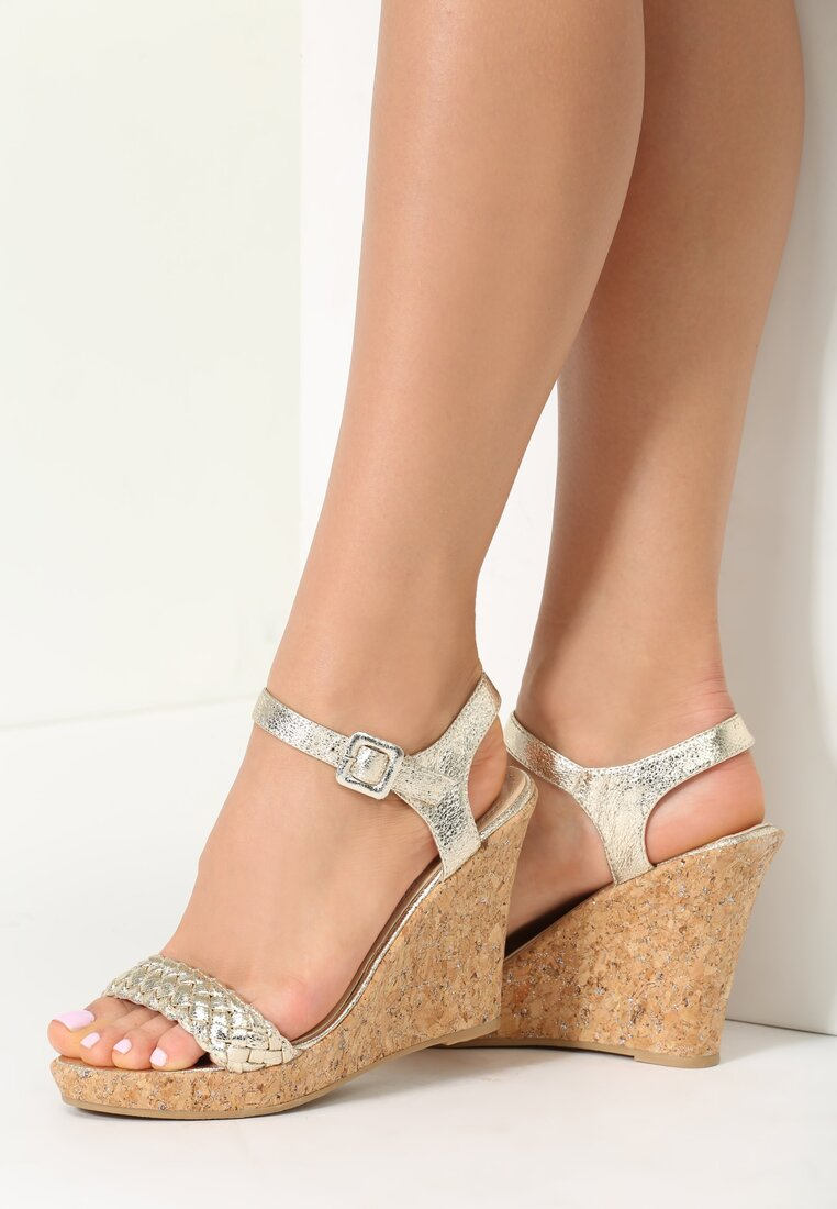 Złote Sandały Hollie