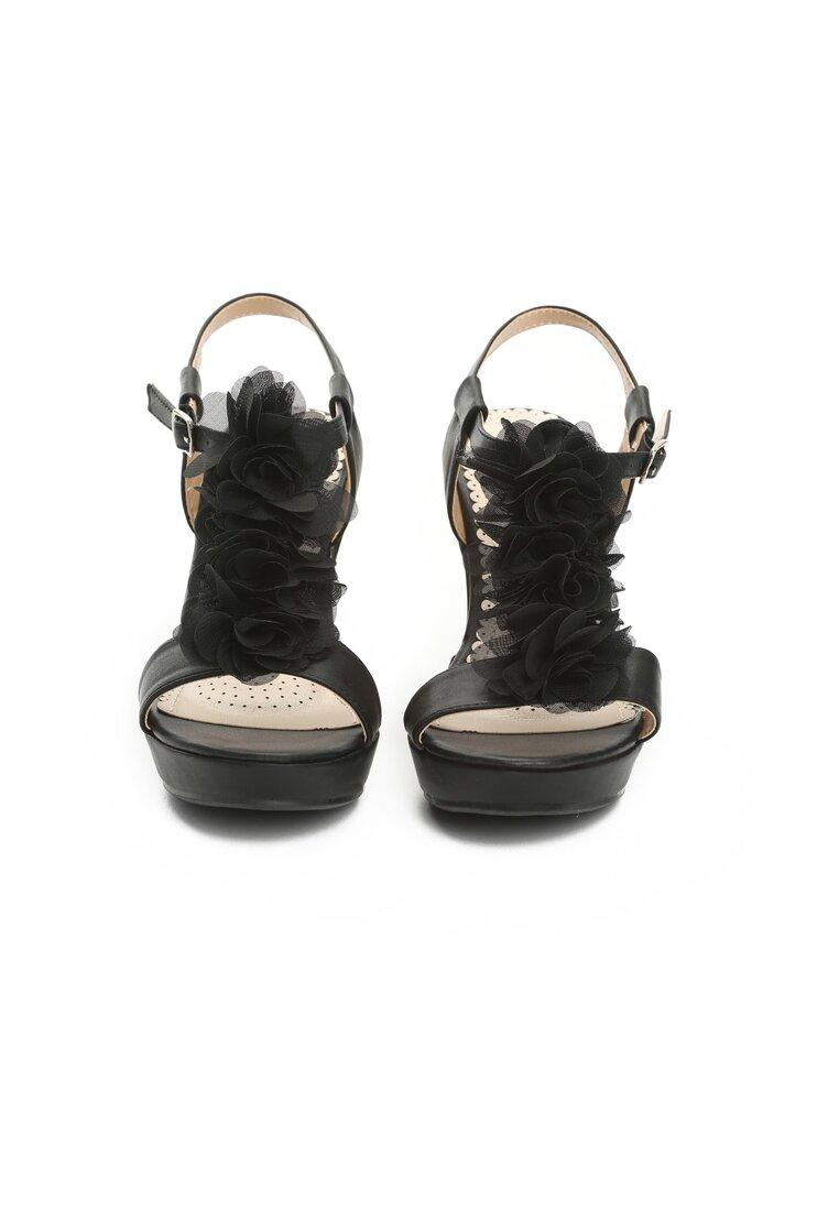 Czarne Sandały Odyssey