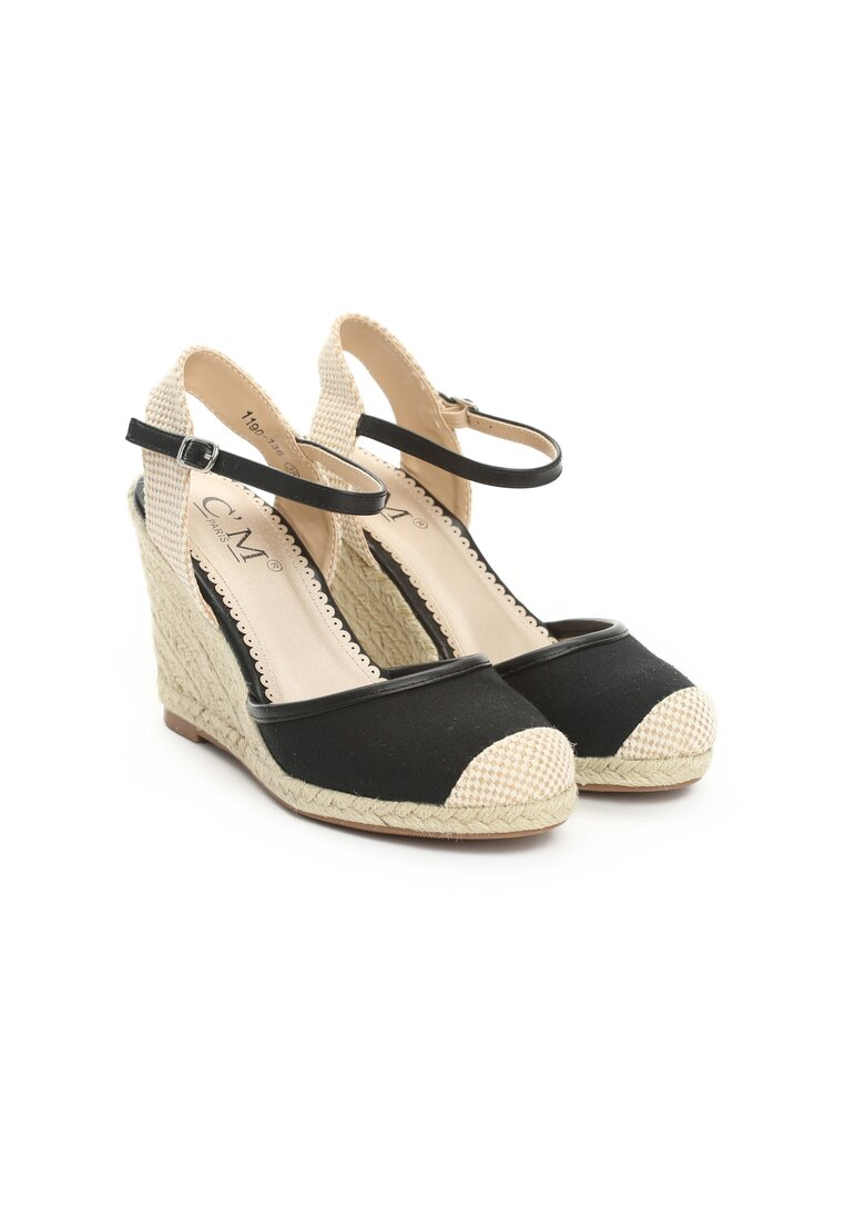 Czarne Sandały Envision