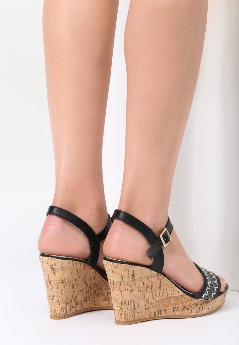 Czarne Sandały Spotlight