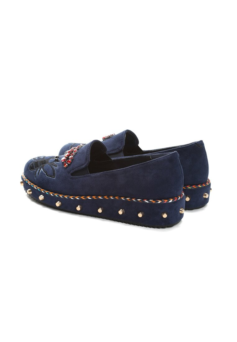 Granatowe Slip On Commerce