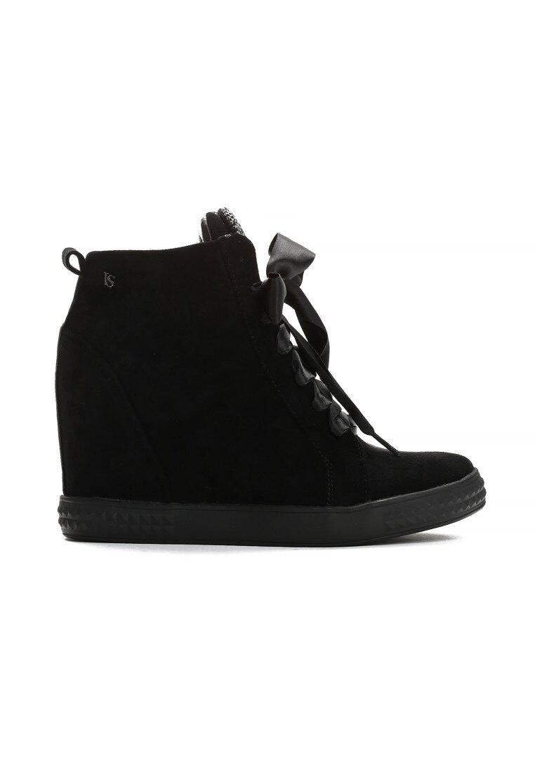 Czarne Sneakersy Feminine