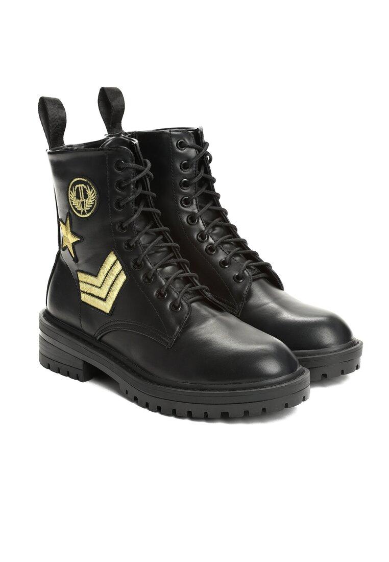 Czarne Botki Military Service