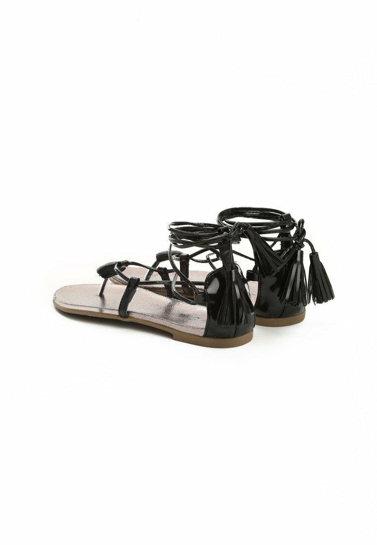 Czarne Sandały Amicable