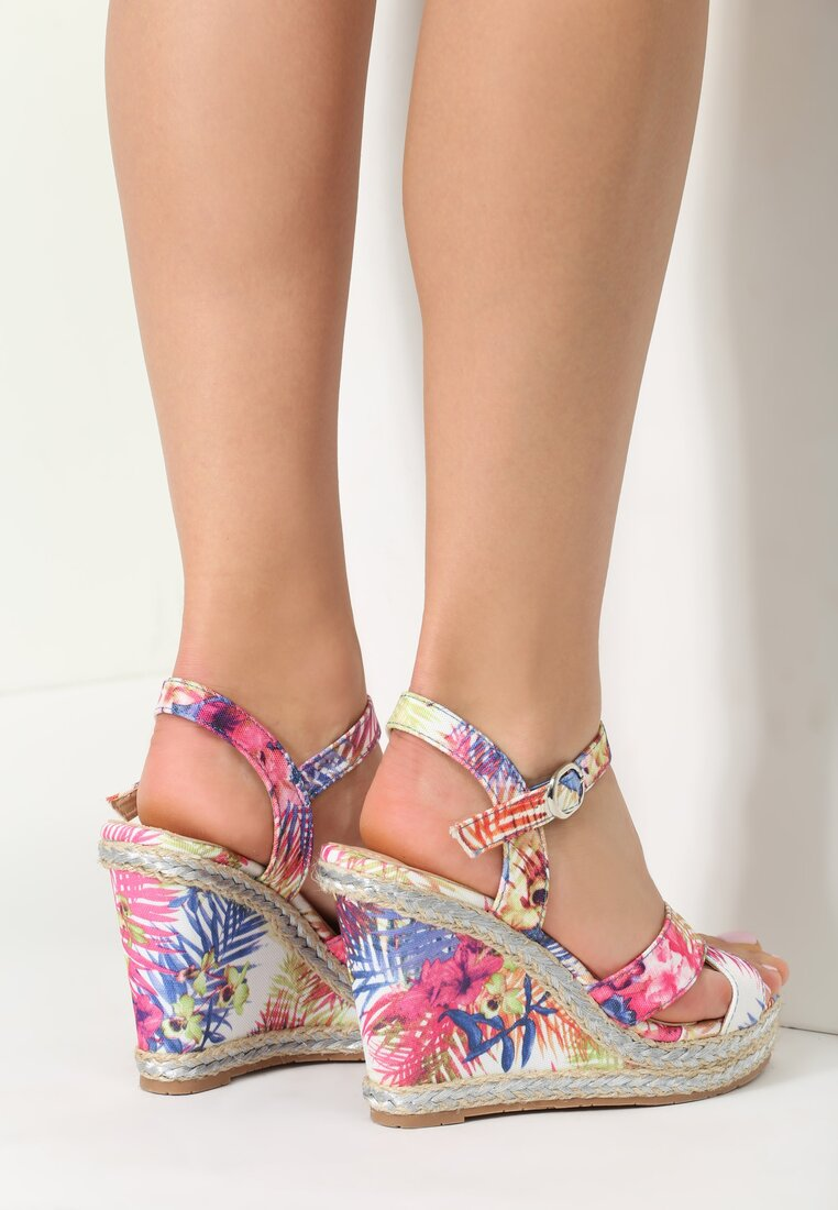 Niebieskie Sandały Flora