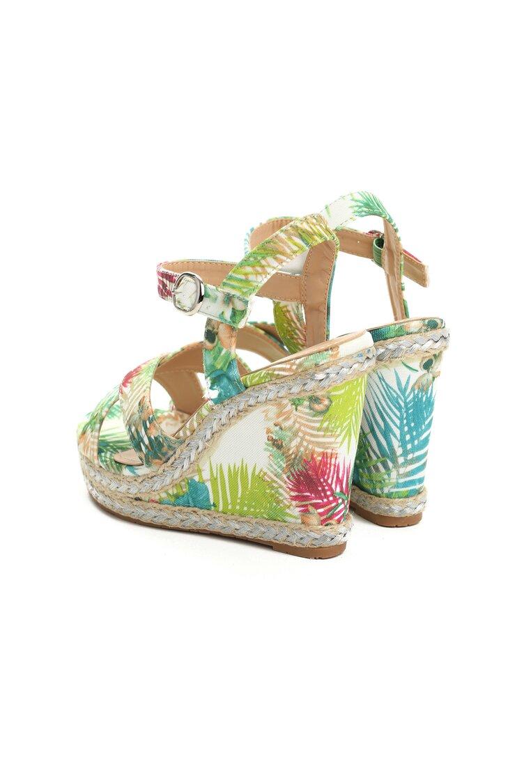 Zielone Sandały Flora