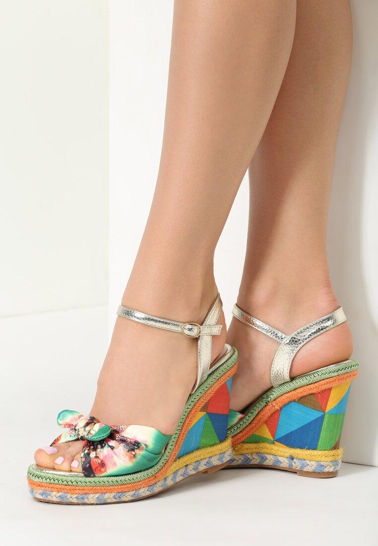 Zielone Sandały Stacks