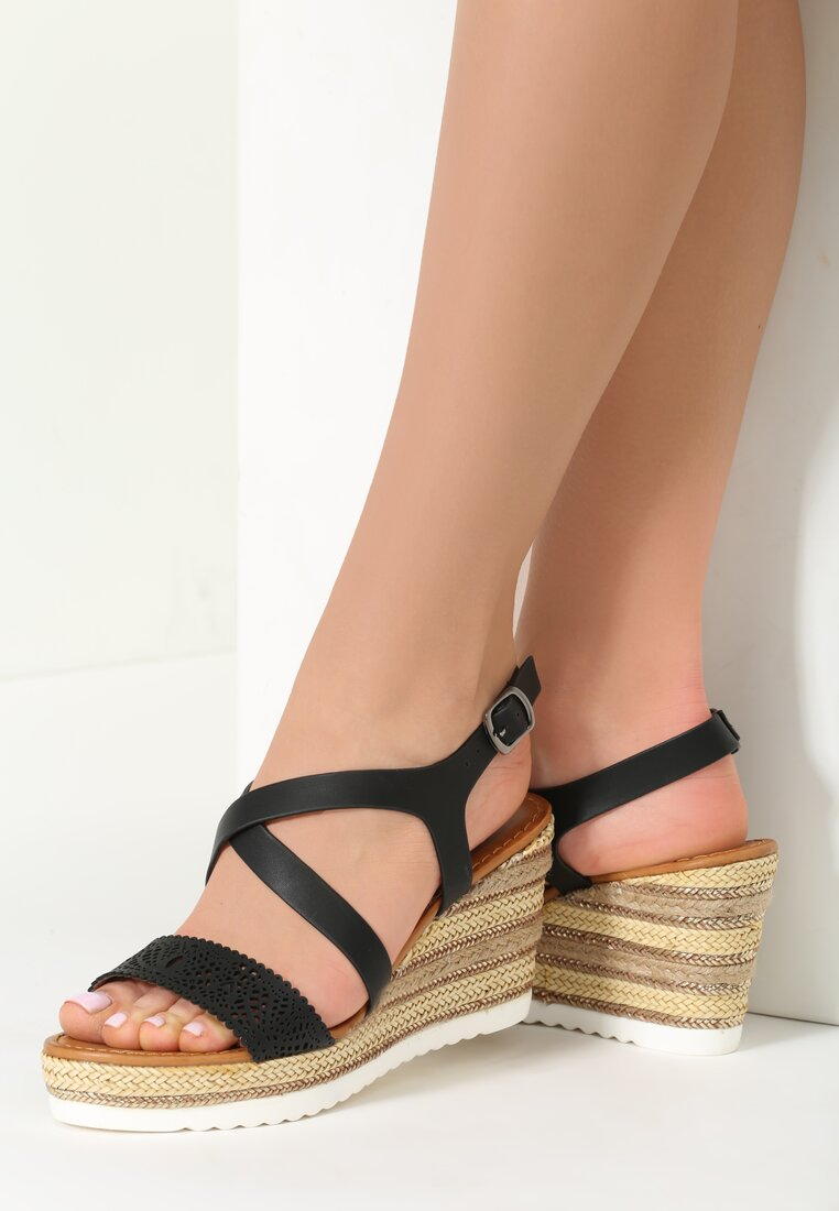 Czarne Sandały Constant