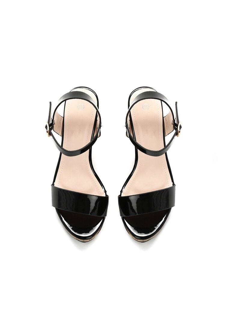 Czarne Sandały Devious