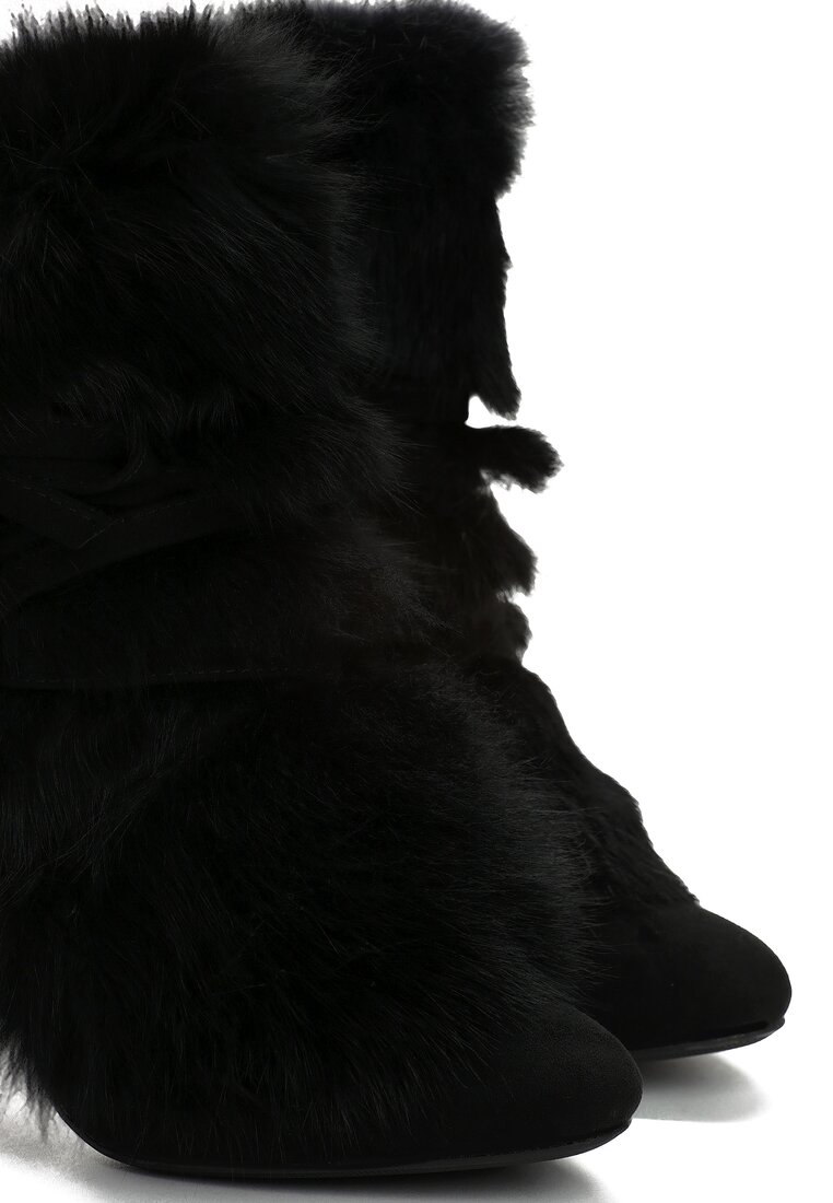Czarne Botki Sheepskin