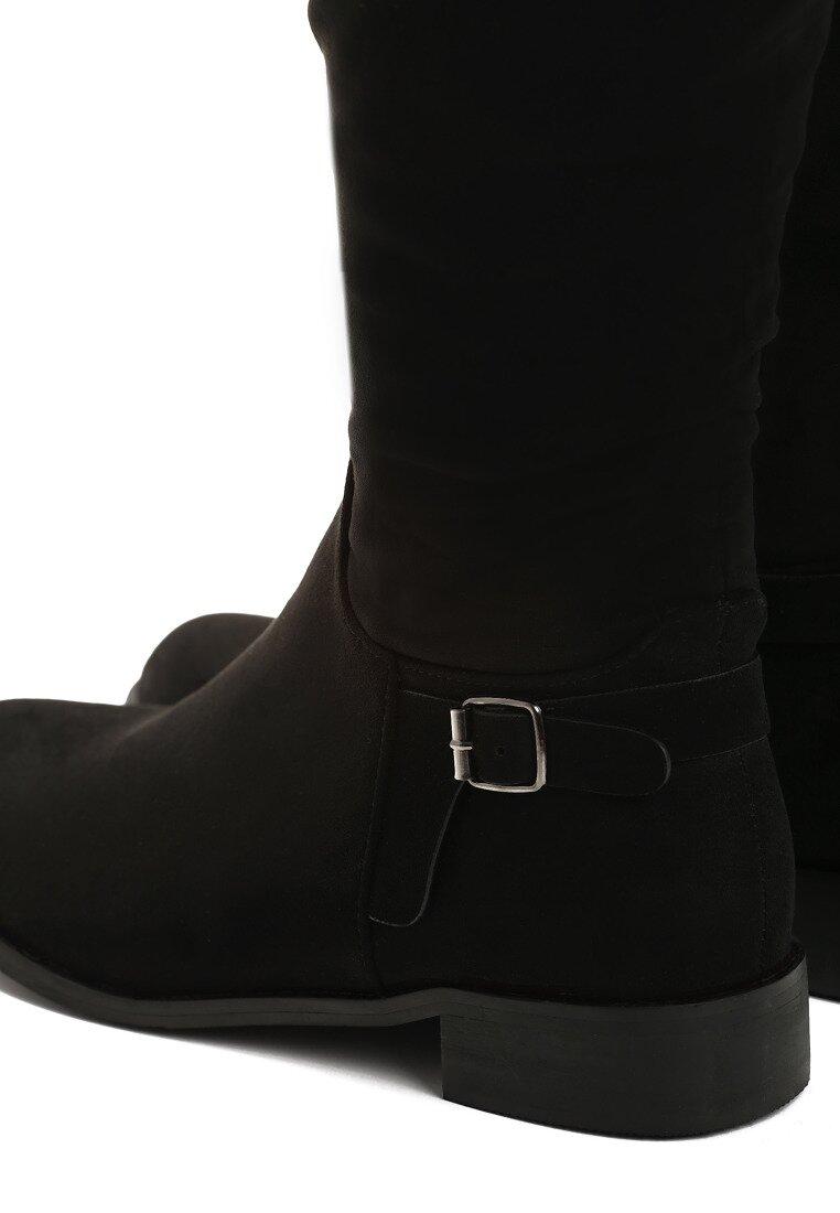 Czarne Zamszowe Kozaki Your Shoes