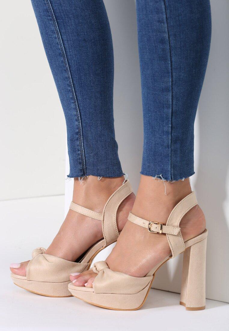 Beżowe Sandały Combination