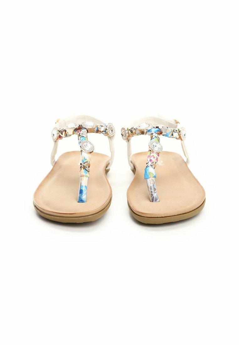 Białe Sandały Buttons Up