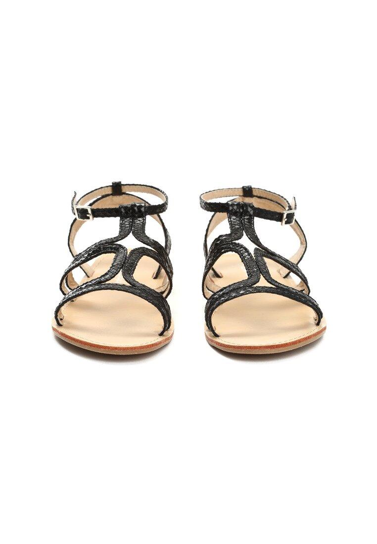 Czarne Sandały Paraboles