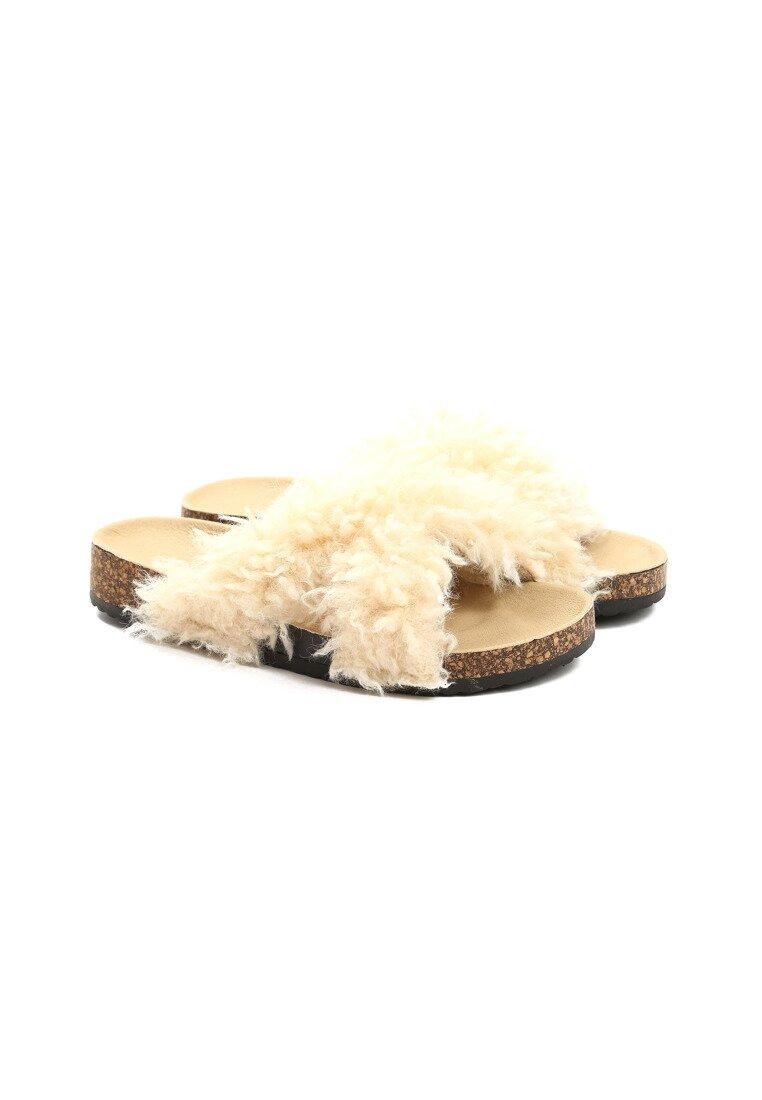 Beżowe Klapki Terrier