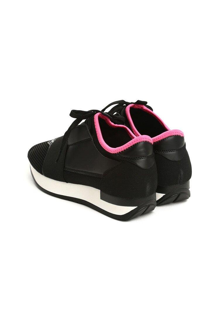 Czarne Buty Sportowe Perfect Rockabye