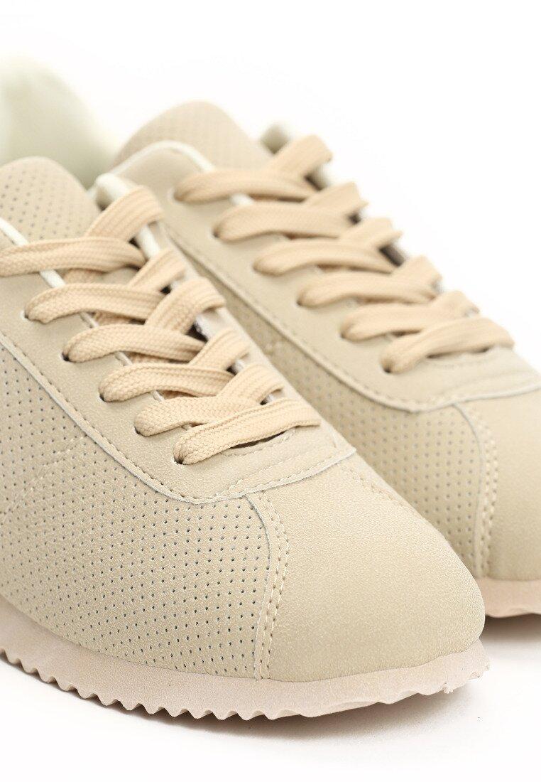 Beżowe Buty Sportowe Rapid