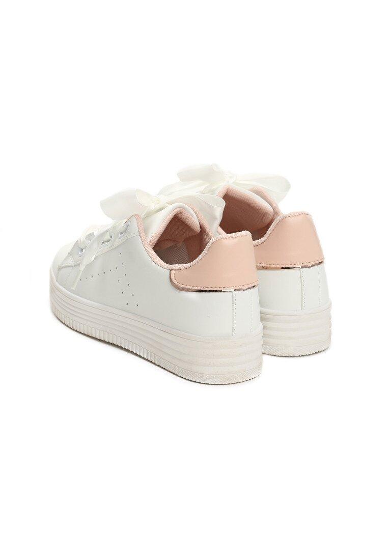 Biało-Różowe Buty Sportowe Treasure