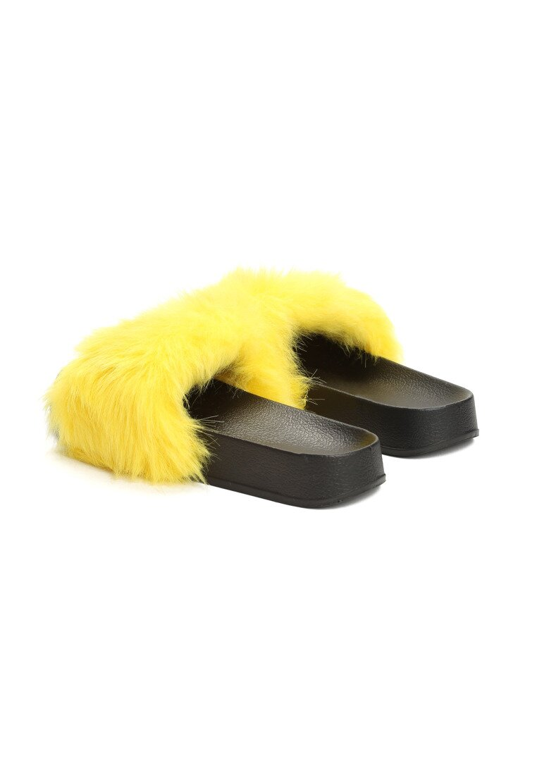 Żółte Klapki Hirsute