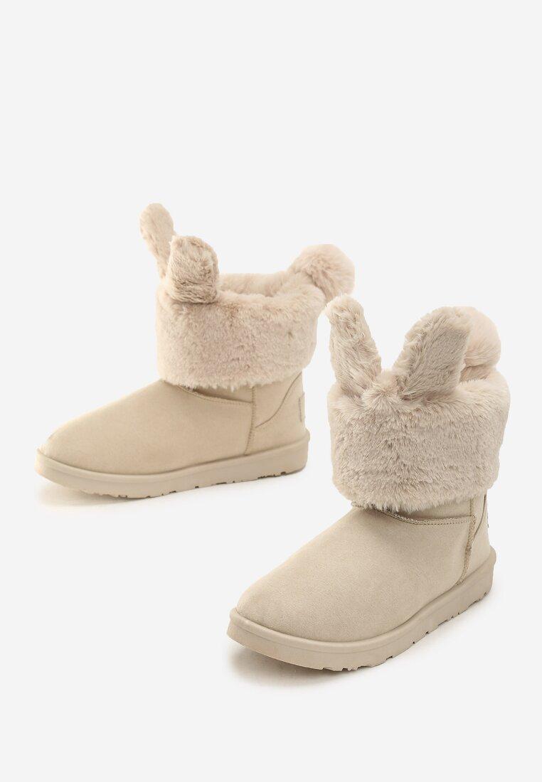 Beżowe Śniegowce Cutie Bunny