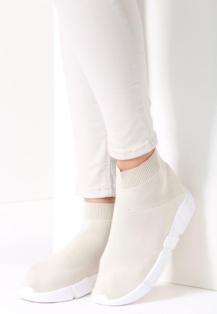 Beżowe Buty Sportowe Pleasurable Spot
