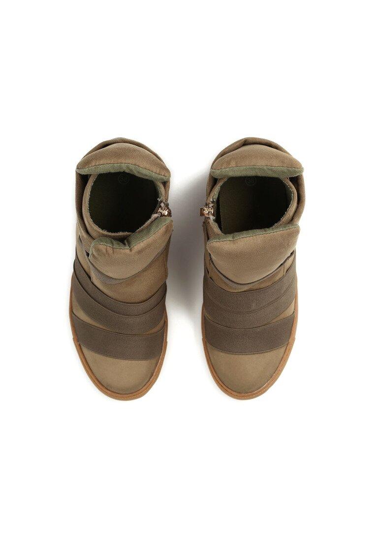 Khaki Sneakersy Fast Seams