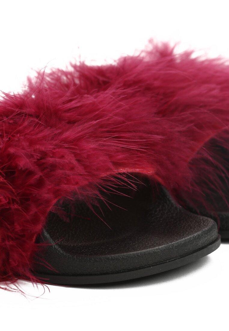 Bordowe Klapki Feather Thugs