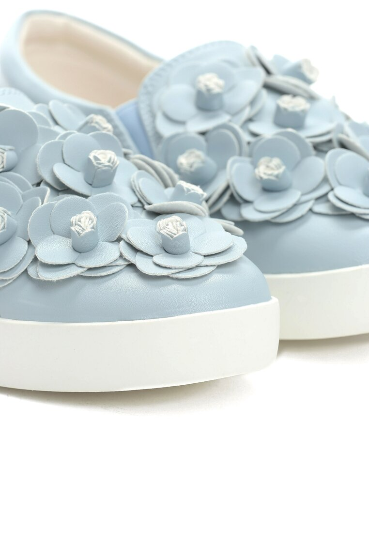 Niebieskie Slip On Flower Show