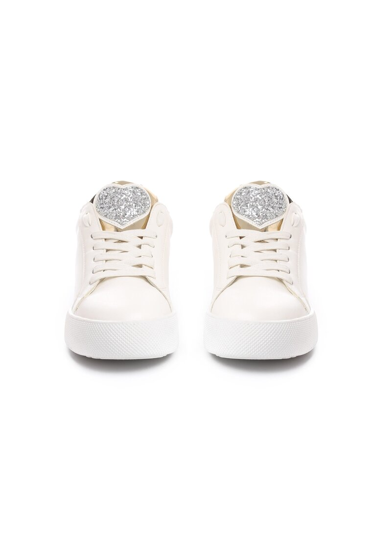 Biało-Srebrne Buty Sportowe Always True