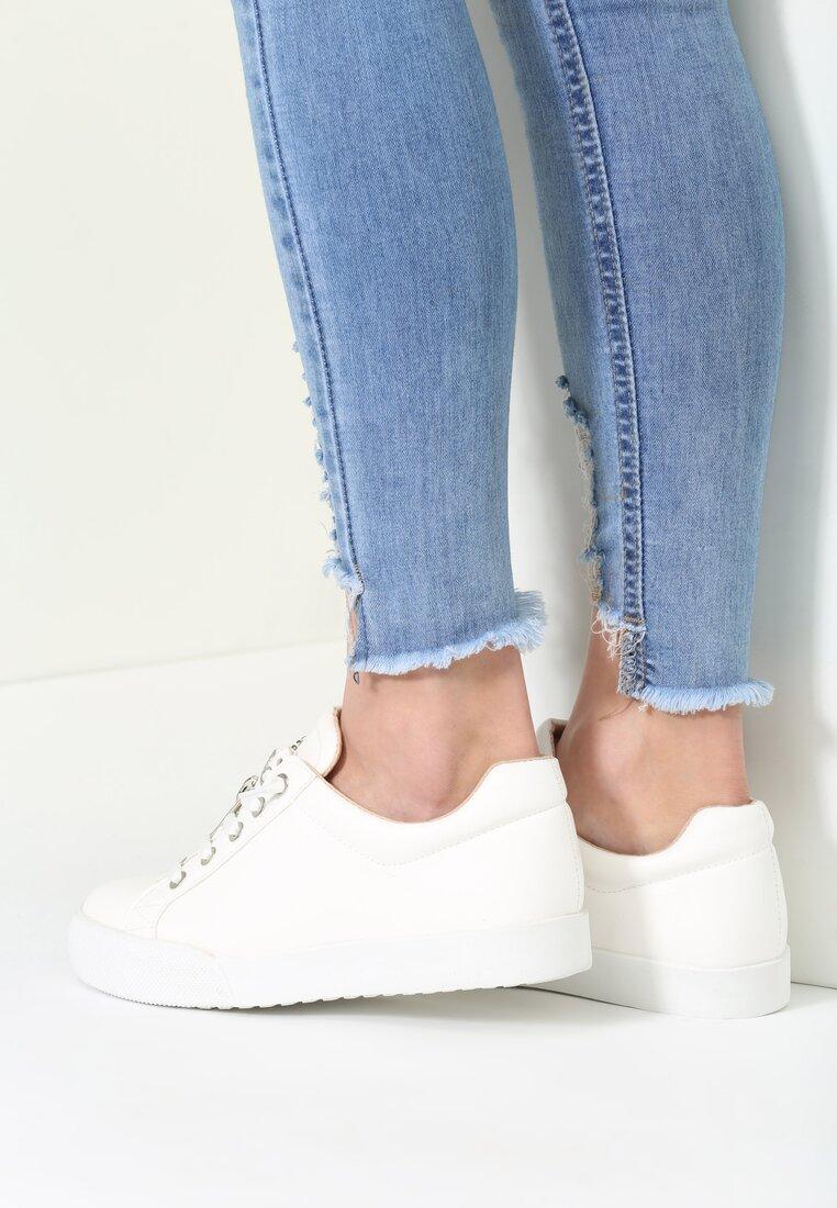Białe Buty Sportowe Zip-On
