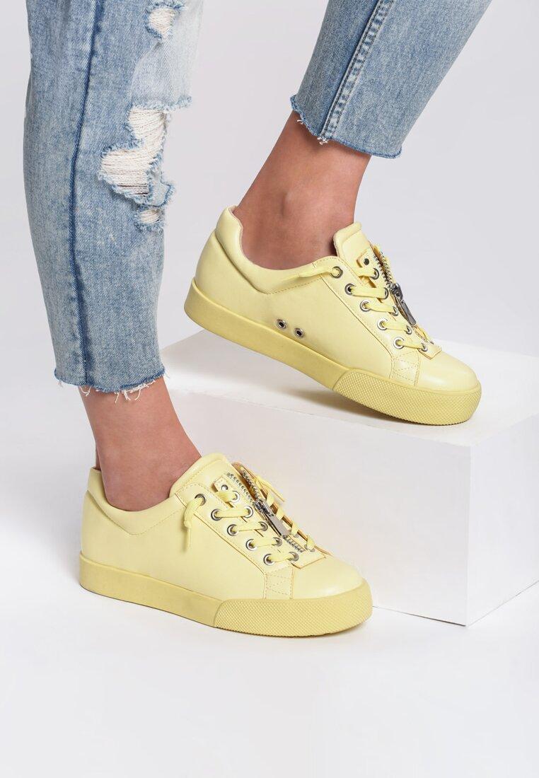 Żółte Buty Sportowe Zip-On