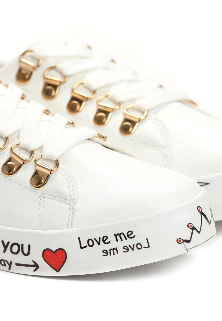 Białe Buty Sportowe Please Love Me