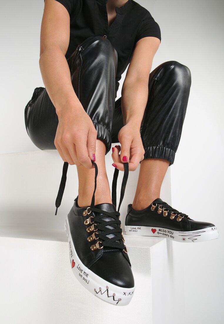Czarne Buty Sportowe Please Love Me