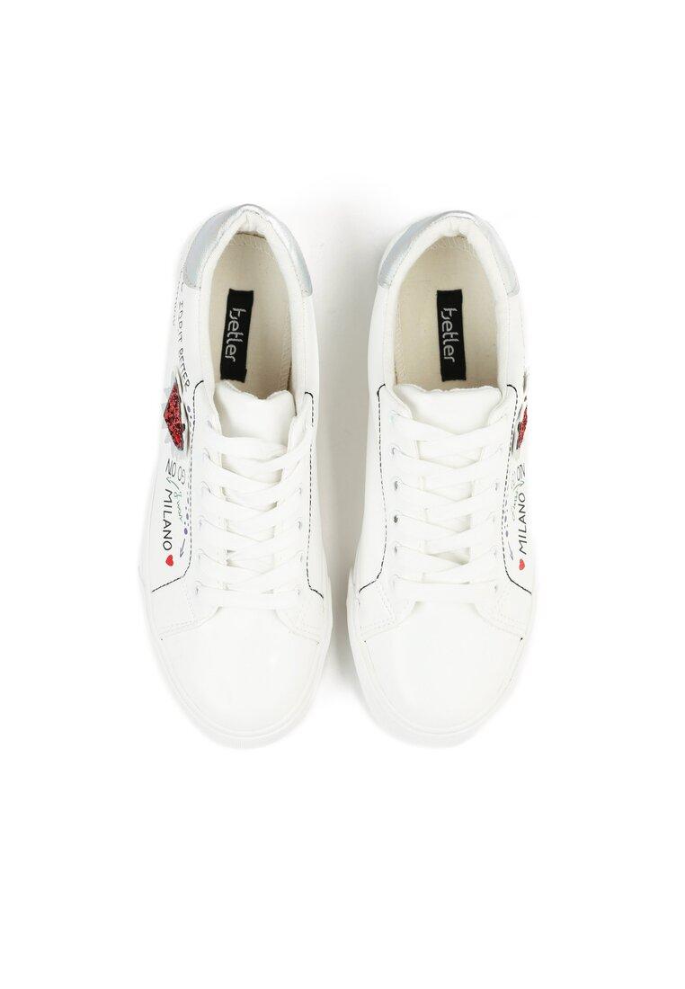 Białe Buty Sportowe Never Walk Alone