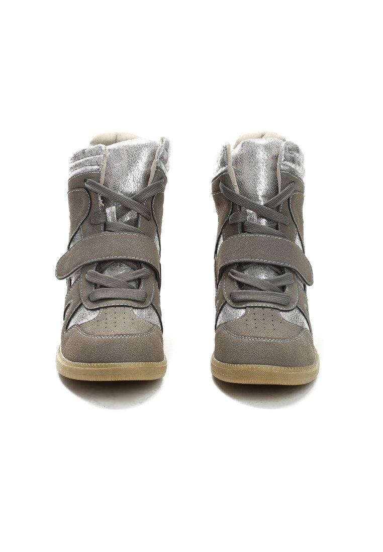 Szare Sneakersy Figurative