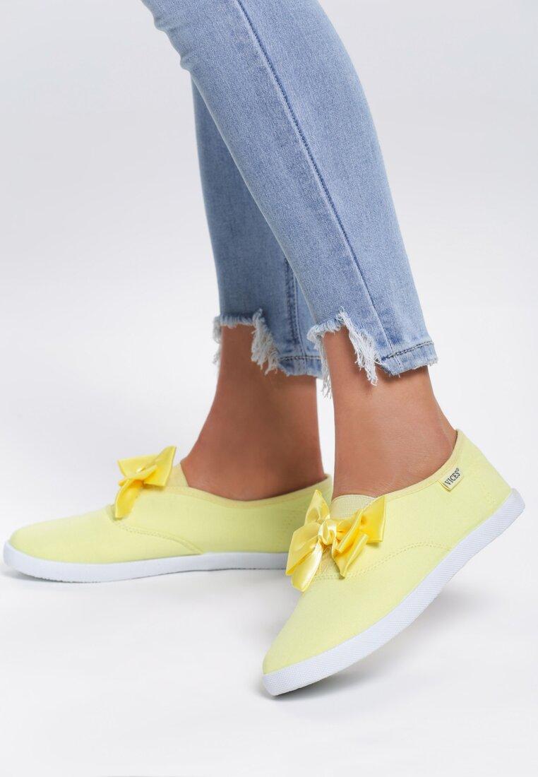 Żółte Tenisówki Bright Lilac