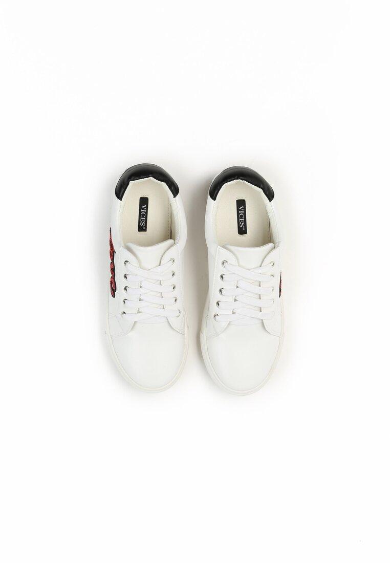 Biało-Czerwone Buty Sportowe Evening Runner