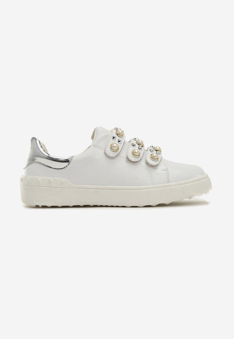 Biało-Srebrne Buty Sportowe No Alibi