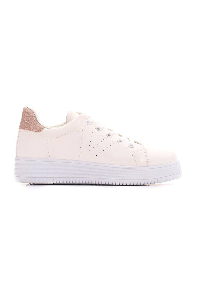 Biało-Różowe Buty Sportowe Something Stupid