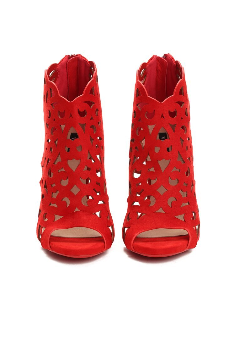 Czerwone Sandały Holey